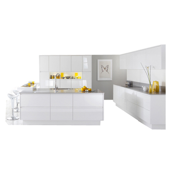Modern High Glossy White Lacquer Kitchen Cabinets Modular Main Product