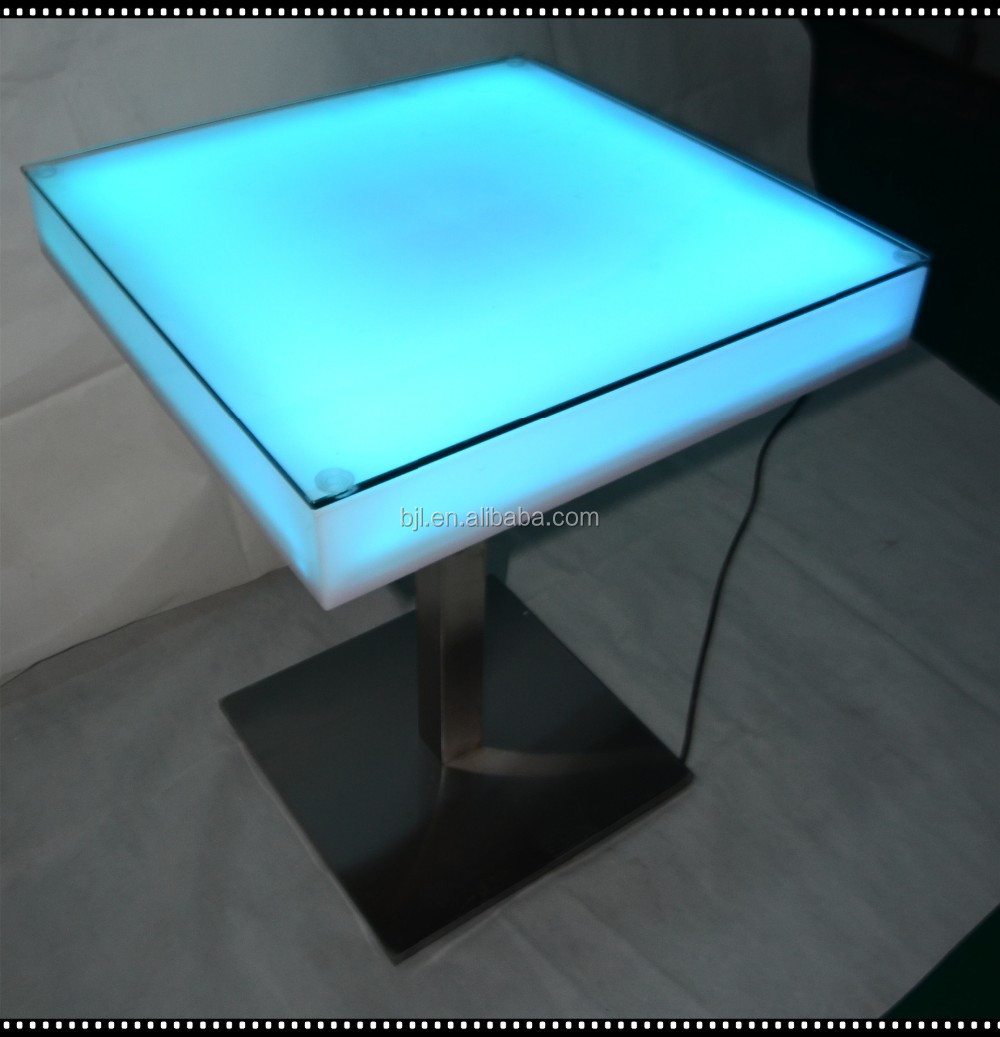 high fashion led light up bar table design led light cocktail