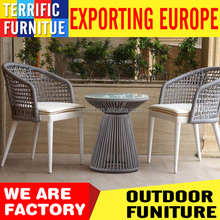 new design rope outdoor furniture garden set with chair