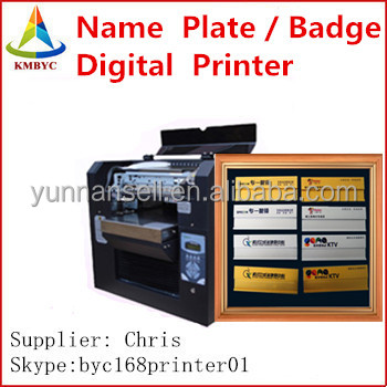 Mejor Precio Nombre/placa De Pecho/insignia Impresora Plana Digital ...