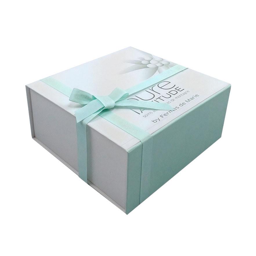 Ribbon Decorative Cardboard Strong Magnetic Closure Gift Box