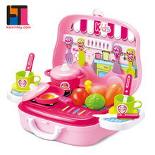new arrivals educational role play game plastic cooking toy kitchen playset for girl