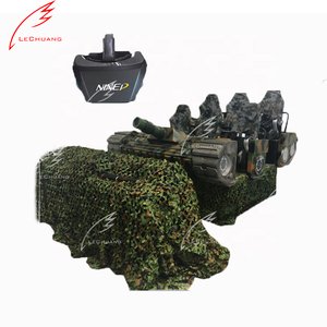 2019 High standard tank simulator vr war game 6 seats motion platform