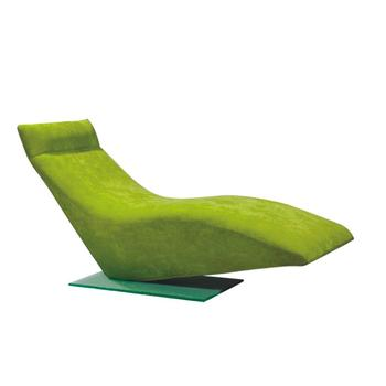 Modern Green Fabric Relaxing Sleep Lounge Chair With Gr Base