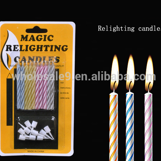 Pillar Candle Magic Relighting Decorative Birthday April Fools Day