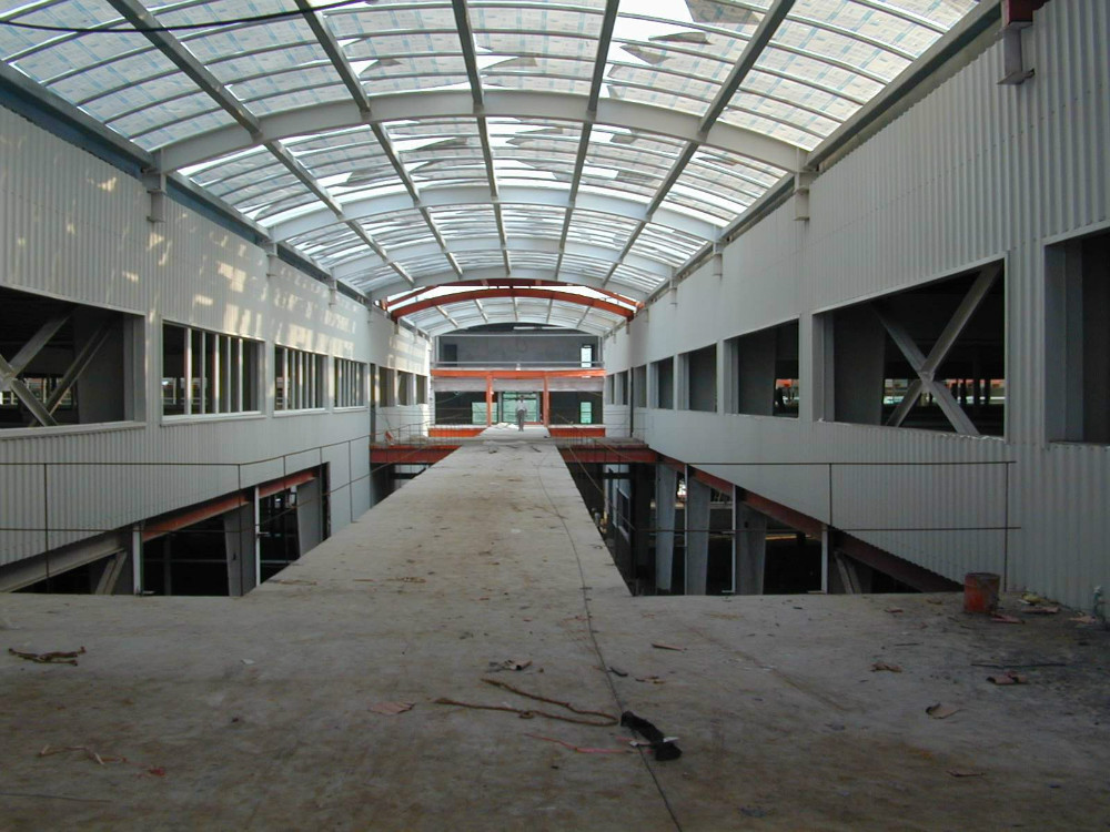 Large span prefabricated light steel structure shed / warehouse / plant