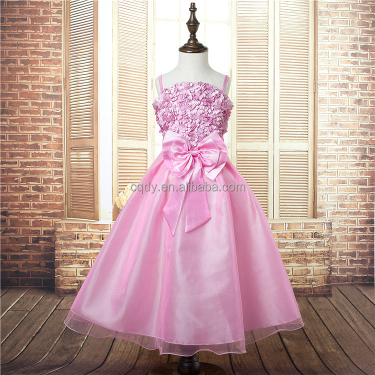 2015 New 1pcs Girls Cute Dresses Trendy Birthday Summer Party Flower Girl Dress Candy princess tutu elegant 8 years