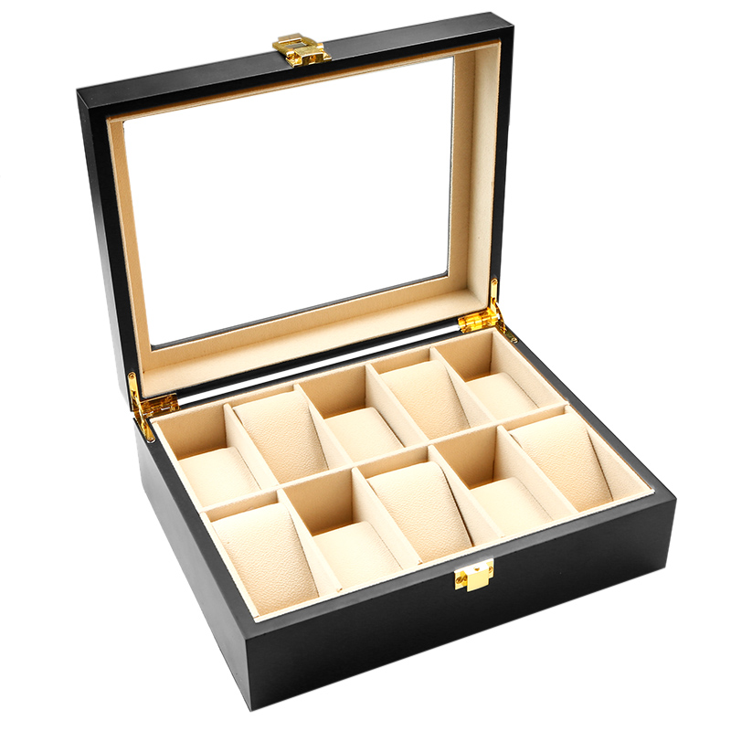 Zenper Personalized Watch Box Luxury Wooden Gift With Transparent Window Birthday For Him