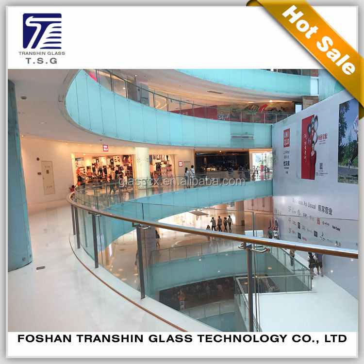 Large glass blocks laminated glass sheet for railing