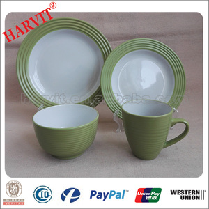 Dinner set for 4 people, porcelain dinnerware china 2016 new products, kitchen ware
