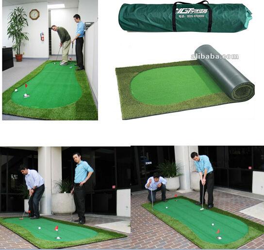 Non Infill Artificial Grass Turf Golf Course Backyard