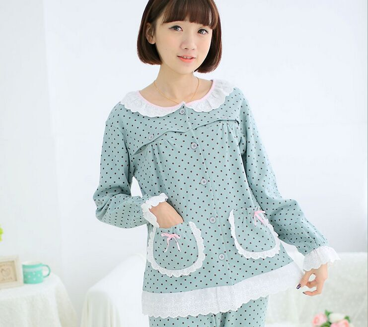 fb0c2b2b36 Buy 2015 Women Cotton Long Sleeve Pyjamas Set Ladies Winter Nightwear  Sleepwear 201500904 in Cheap Price on m.alibaba.com