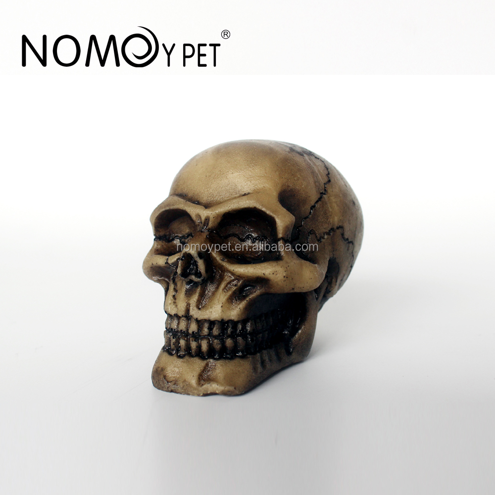 NOMOY PET Competitive Price human head aquarium resin figurine for reptile Small NS-104