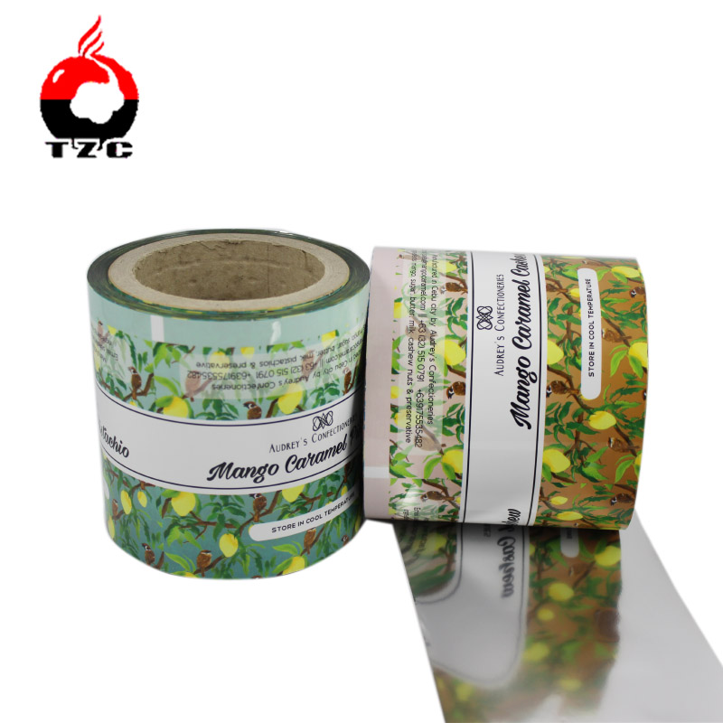 Group of biscuits packaging in flow pack wrapper roll film