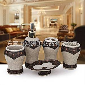 SBWYLT-European style resin five sets of five piece bathroom set-bathroom-Bathroom Bathroom Suite