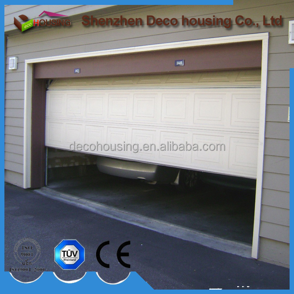 Double track galvanized steel garage door PU foam insulated auto garage doors