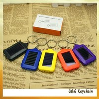 Factory Direct Sale Three Lights LED Solar Flashlight Key chain R9024