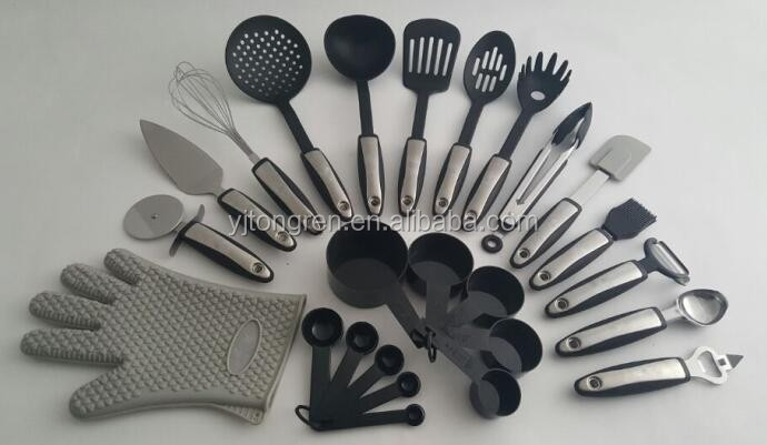 private labelling amazon best seller kitchen 25-piece kitchen utensils set