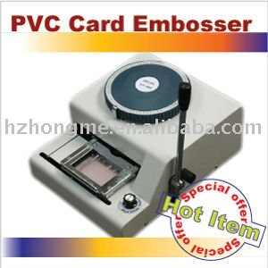 Common+Italic+MV characters pvc card embossing machine