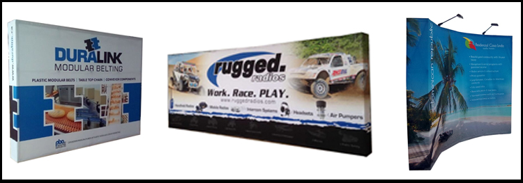 10ft straight portable aluminium backwall display