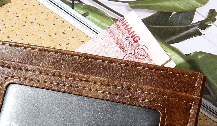 Hot selling New design PU leather multi-color men and women credit card holder wallet
