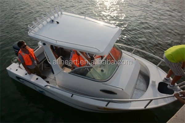 5.8m center cabin fishing boats hardtop for fishing