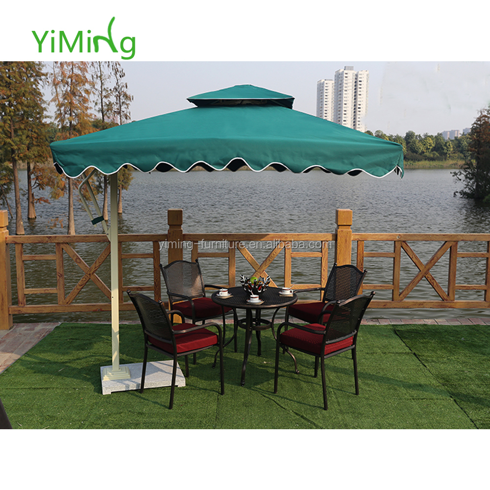 Sun Garden 3m Outdoor Parasol Leisure Patio Umbrella Aluminum Square Roma