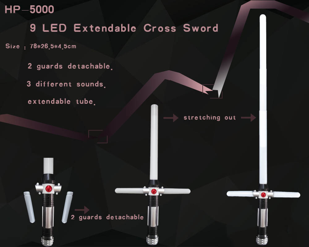 9 LED extendable cross sword
