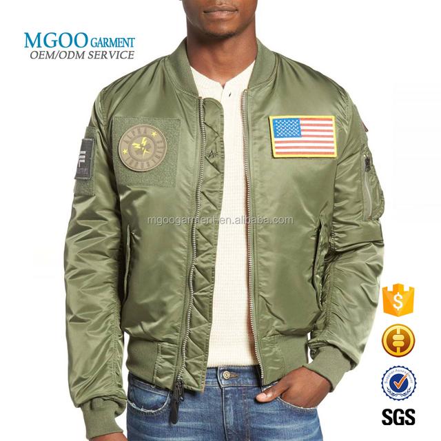 Custom Embroidered Patch Winter Jacket Man Reversible Flex Bomber Jacket
