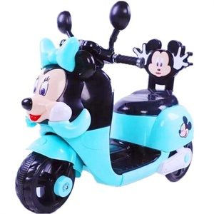 2018 lovely mickey minnie cartoon three wheel kids electric motorcycle