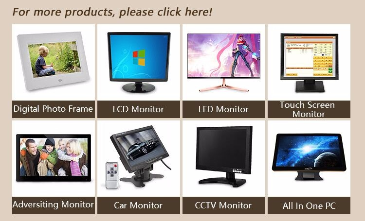 Square screen 15 inch open frame lcd touch screen monitor flush mount
