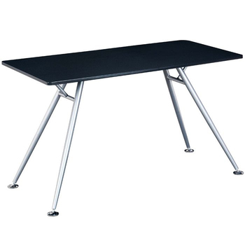 home black tempered glass office furniture computer desk metal