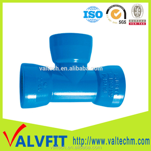 wastwater industry Ductile Iron Pipe Fittings all socket end equal tee for pvc pipe connection use