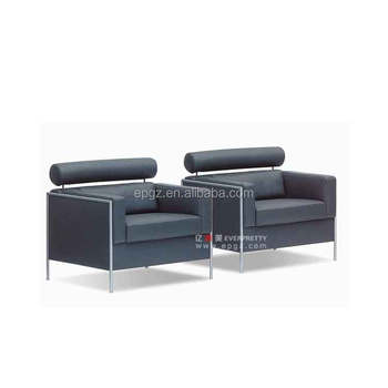 China Sofa Furniture 2-seater Metal Frame Black Leather Sofa Set - Buy  2-seater Black Leather Sofa Set,Metal Frame Black Leather Sofa,China Black  ...