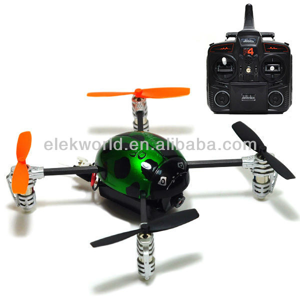 Ladybird 4CH 2.4GHz Quadcopter Drone RC Helicopter with Receiver&Transmitter (LADYBIRD V2+TX5805+DEVO F4)