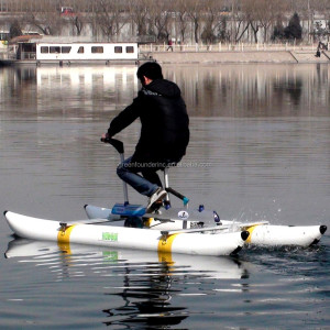 2017 Water Sports Hot Selling PVC Pontoons Propeller Water Bikes Water Bicycle Sea Bikes Supply