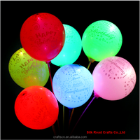 Inflatable LED party balloon with flashing Lamp