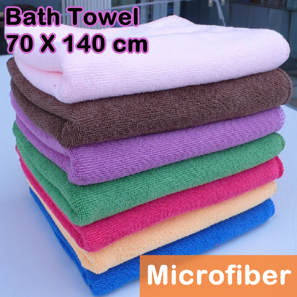 Wholesale Microfiber Bath Towels: 5 Pcs/Lot Bulk Microfiber Fabric Bath Towel Outdoor Beach