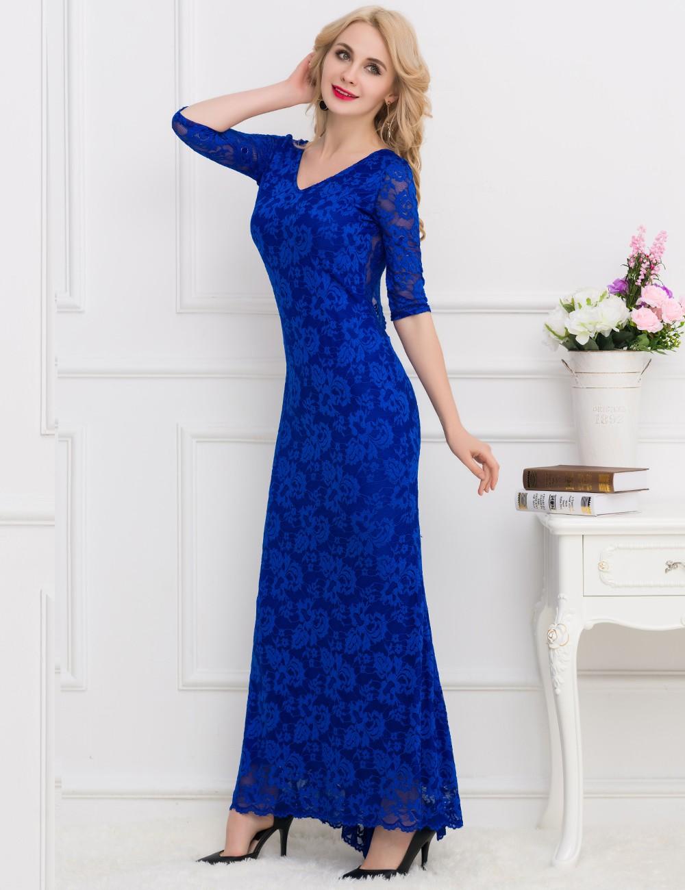 2017 ohyeah dentelle formelle de soir e longue robe pour les personnes g es buy product on. Black Bedroom Furniture Sets. Home Design Ideas
