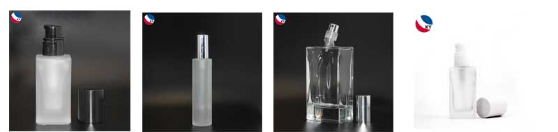 Clear Perfume Bottles Thick 10ml 15ml Rectangular Glass Bottle With Spray Cap