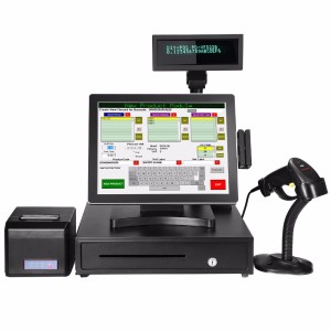 Fanless POS Terminal with True Flat Touch Screen Bars / Ice Cream Parlors / Restaurants