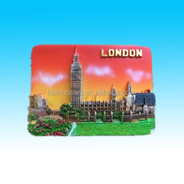 Hand painted custom 3D Resin tourism souvenir fridge magnets