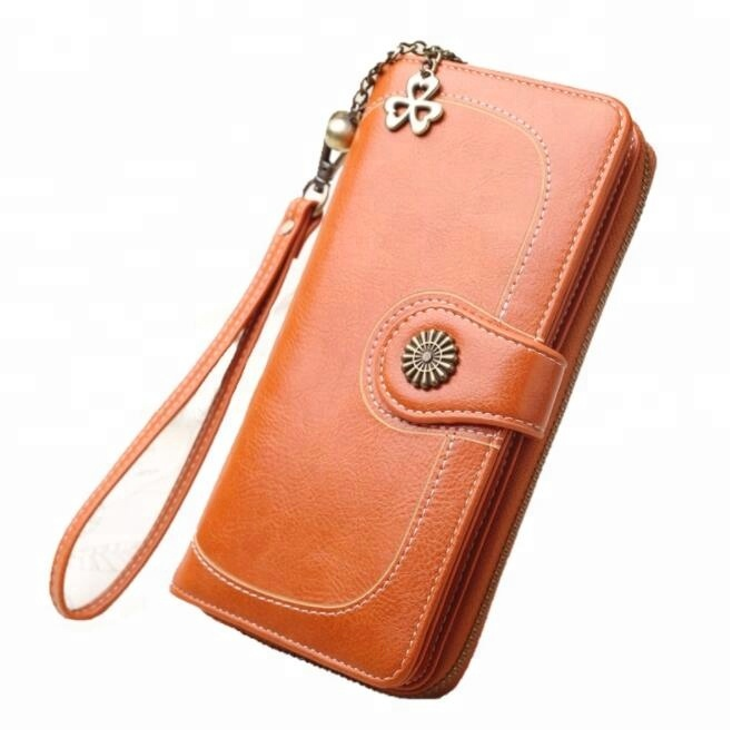 Women Clutch 2019 New <strong>Wallet</strong> Large Capacity Long Zipper Purses For Money/Card/Phone Holder