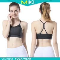 Top quality 2016 breathable sexy women /ladies mesh sports bra gym wearing tops