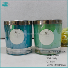 FJ016 home decoration 165g filled wax personalized soy paraffin glass jar scented candle in luxury gift box