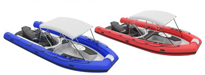 inflatable &FRP combined boat matched with PWC/jet ski/wave runner for sale for familay use