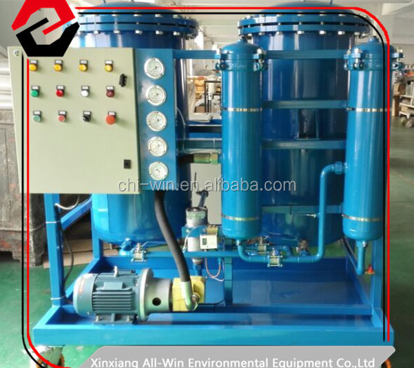 Coalescence dehydrated transformer oil purifying system