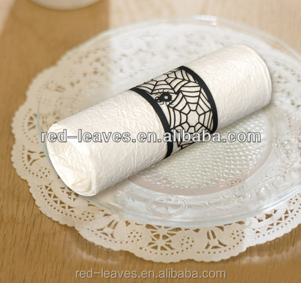 High quality paper laser cutting napkin ring for banquet or party