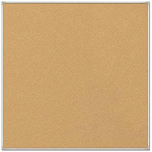Best-Rite 4 x 4 Feet VT Logic Natural Cork Bulletin Board, Silver Ultra Trim (E3019D)