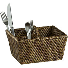 RHB - 13012 - Wholesale Wicker Baskets - Rattan Flatware Caddy/Woven basket